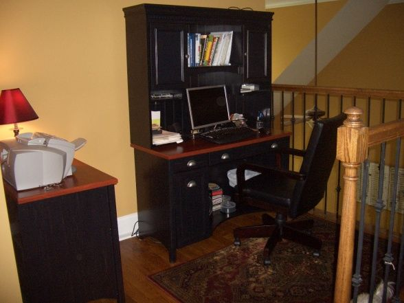 Landing loft area at top of the stairs we had  small decided it would make nice home office also best images workplace rh pinterest