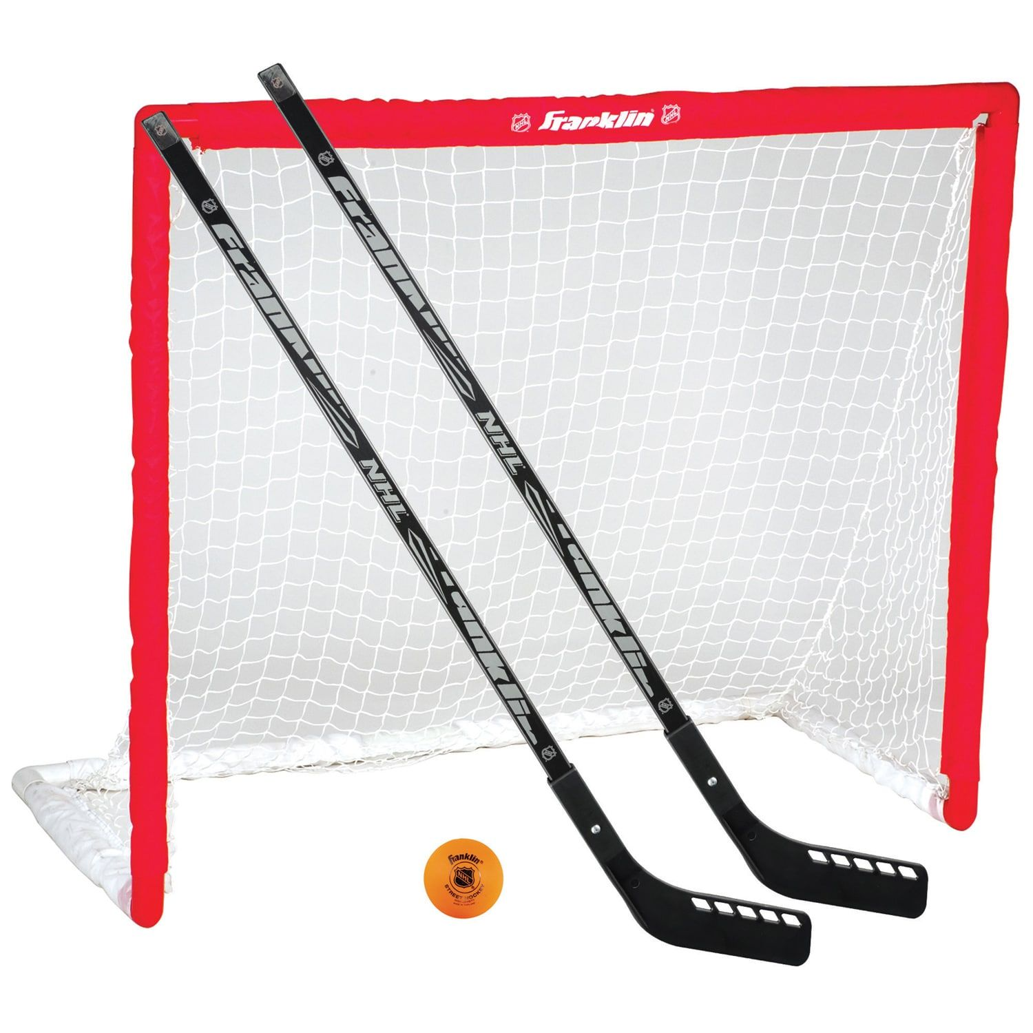 Franklin Sports Nhl Hockey Goal Hockey Stick Ball Set Franklin Sports Street Hockey Hockey Goal