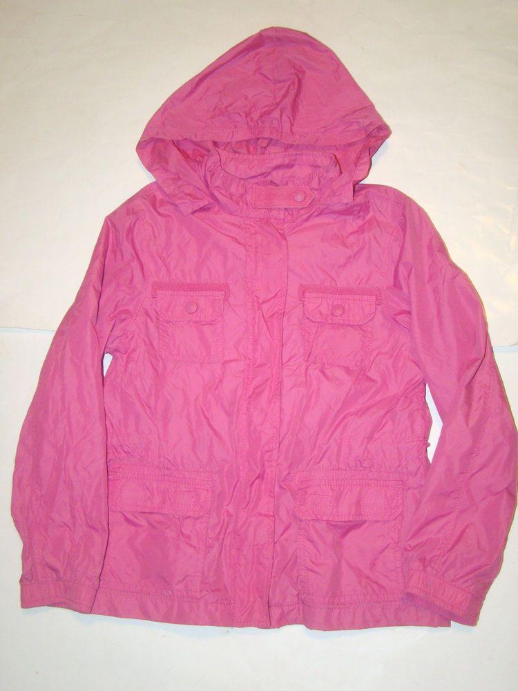 65a0a559c Gap Kids Pink Hooded Hoodie Nylon Windbreaker Lightweight Lined ...