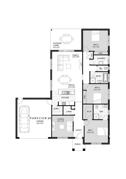 Cavalier Homes Parkview Cottage Floor Plans House Plans House Layouts