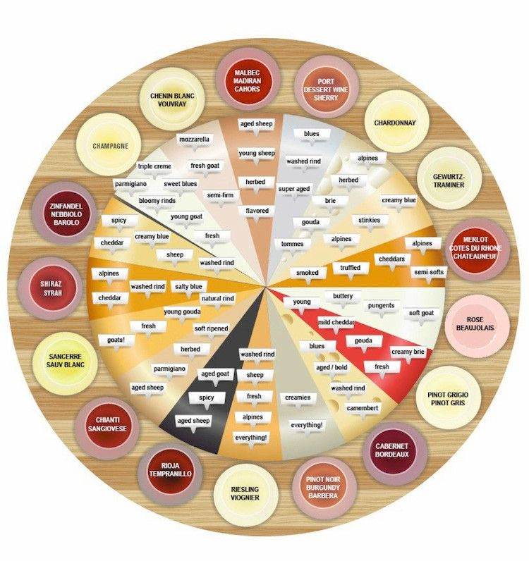 Wine and cheese pairing chart chart cheese and wine