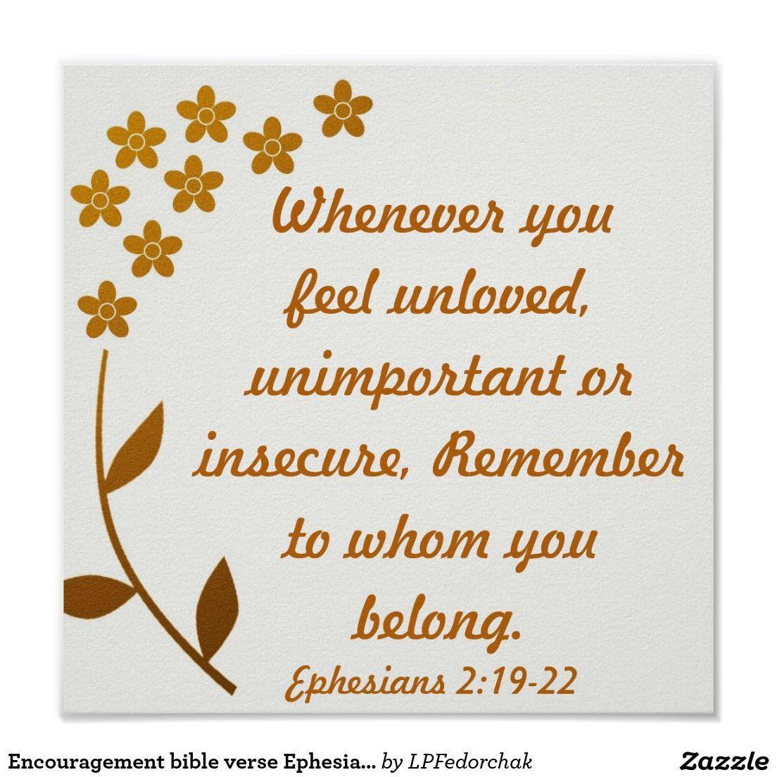 encouragement bible verse ephesians 21922 poster