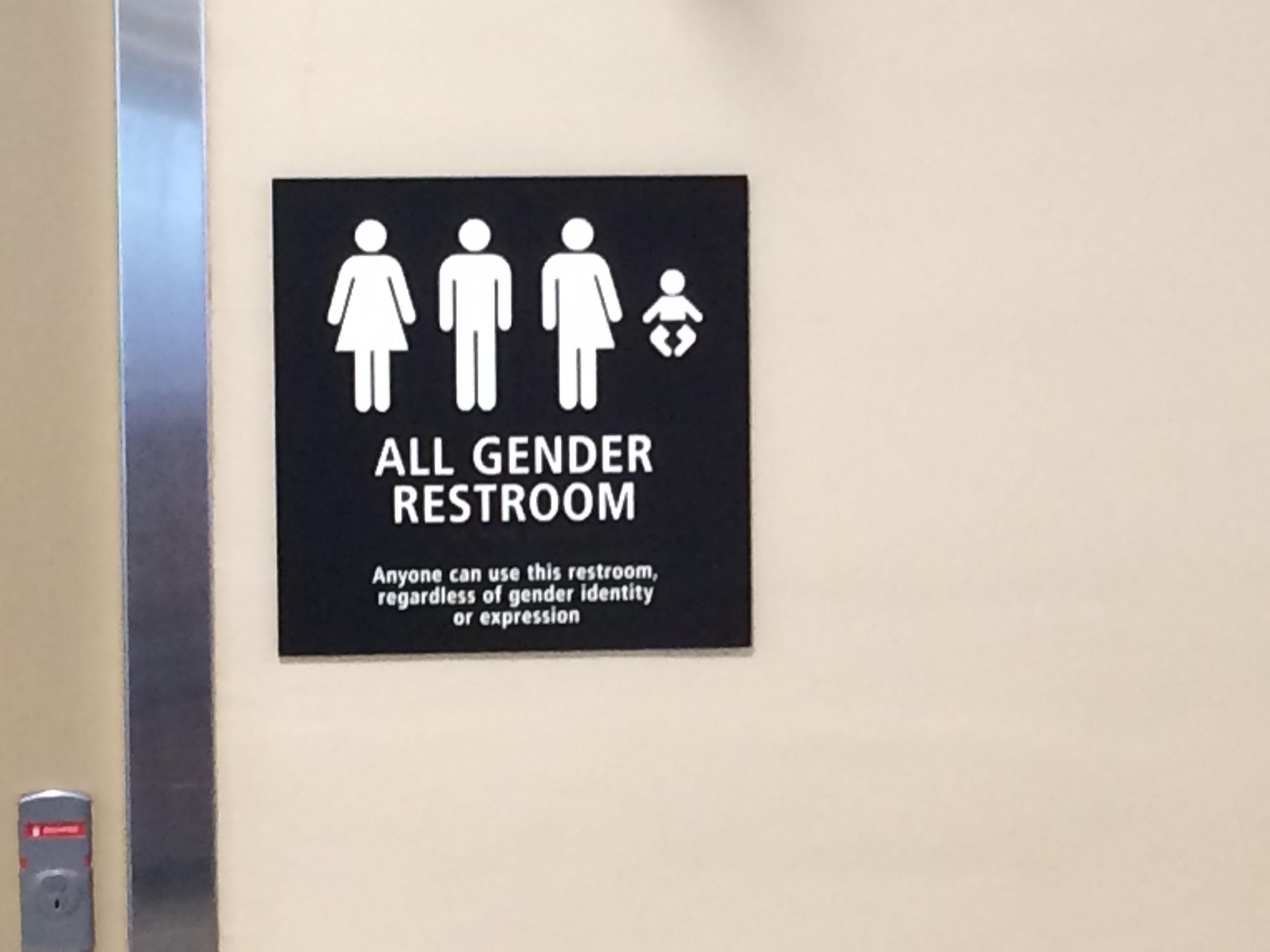 All Gender Restroom San Diego Airport All Gender Restroom Restroom Lettering