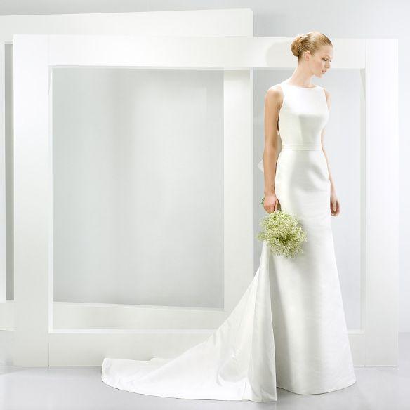966ebfb00 elblogdeanasuero-Vestidos de novia 2015-Jesús Peiró vestido clásico tubo