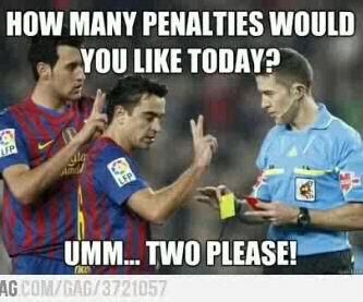 Each Time Before Barcelona Plays They Talk To The Referee Hahaha Funny Soccer Memes Funny Soccer Pictures Funny Football Memes