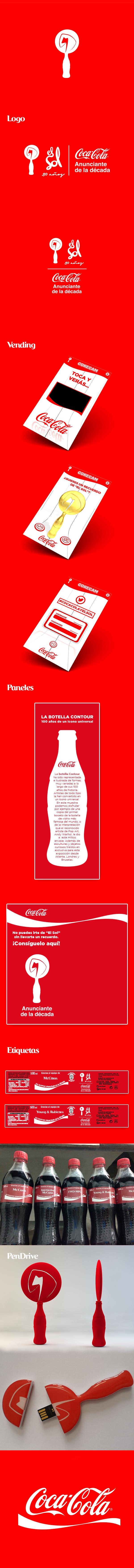"""Coca-Cola anunciante de la Década en """"el Sol"""" on Behance"""