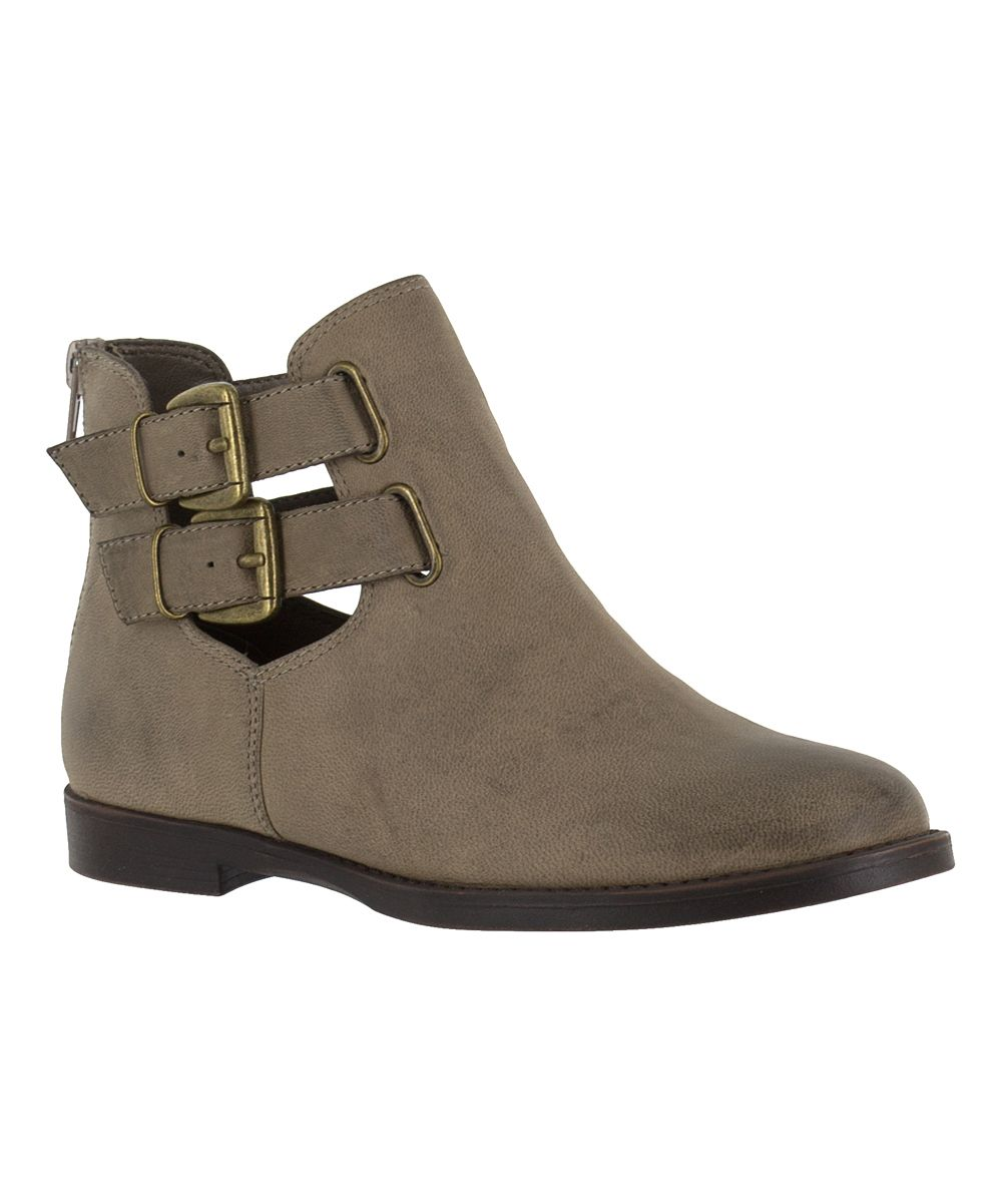 e14f1b253836 Stone Ramona Leather Buckle Bootie Women s Over The Knee Boots