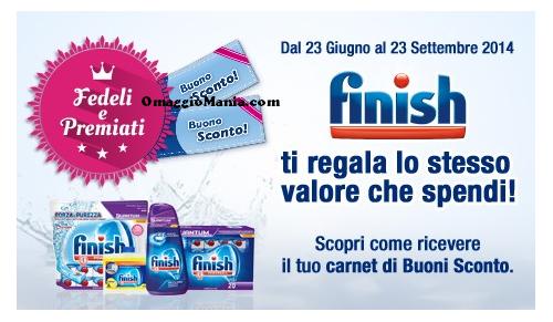 Carnet di buoni sconto Finish - http://www.omaggiomania.com/buoni-sconto/carnet-buoni-sconto-finish/