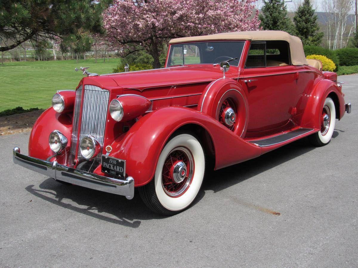 1936 Packard 1401 Convertible Coupe | CARS | Pinterest | Convertible ...