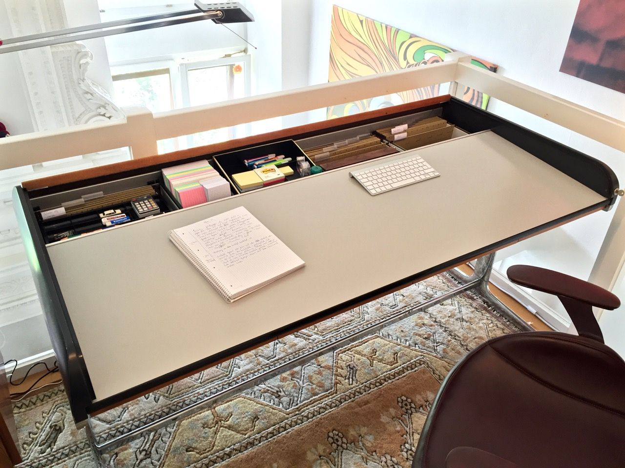 Herman Miller Action Office Rolltop Desk By George Nelson Roll Top Desk Desk Mid Century Modern Desk