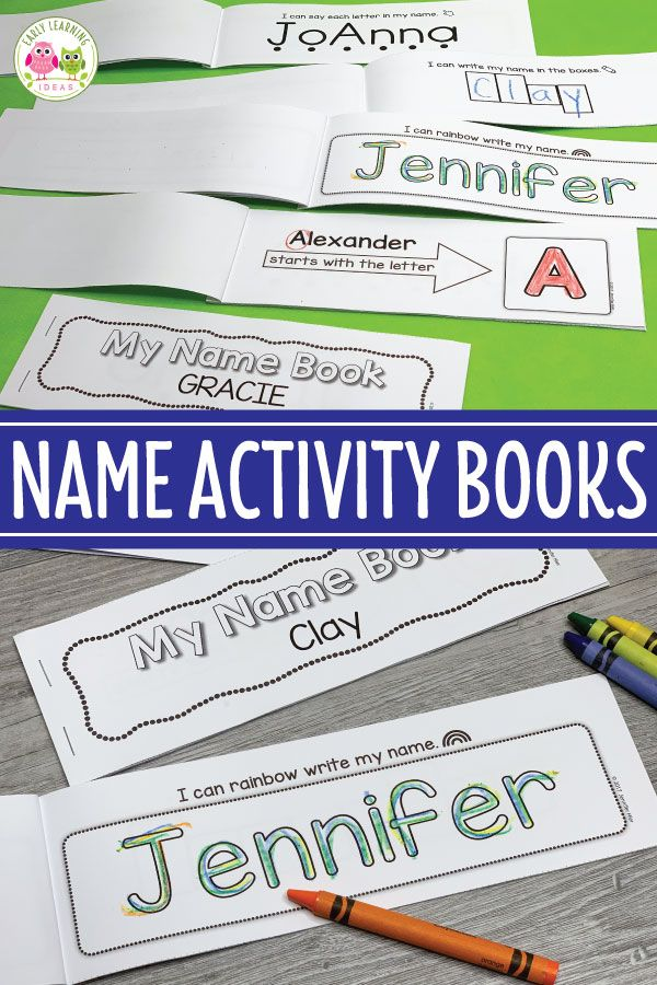 How to Easily Make Name Writing Activity Books is part of Name writing activities, Kindergarten writing activities, Writing activities for preschoolers, Writing activities, Name activities, Name writing - Use these custom name writing activity books filled with a variety of activities to help your kids learn name recognition, letter recognition, and learn to write their names  A child's name is the most important word in their life  Learning to recognize, and spell their names is an engaging way to begin learning about the features print and early literacy concepts  These name activity books