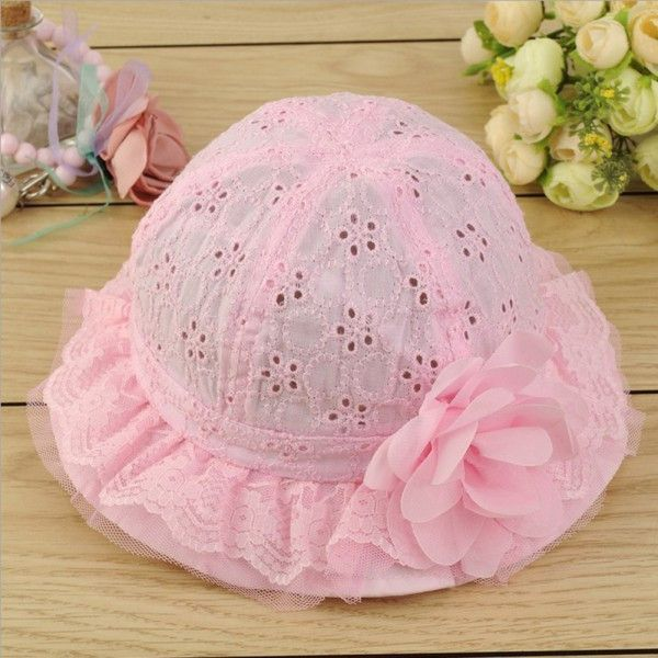 3-9 months Gorgeous Baby girls adjustable sun bonnet Hats newborn-6 months