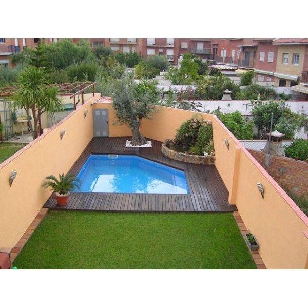 Resultado de imagen de piscinas elevadas obra patios con - Patios con piscina ...