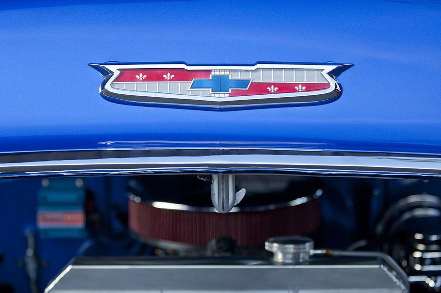 1955 Chevrolet Belair Hood Emblem Chevrolet Emblem 1955