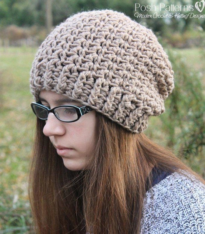 Crochet Pattern Elegant Crochet Slouchy Hat Pattern Slouchy Hat