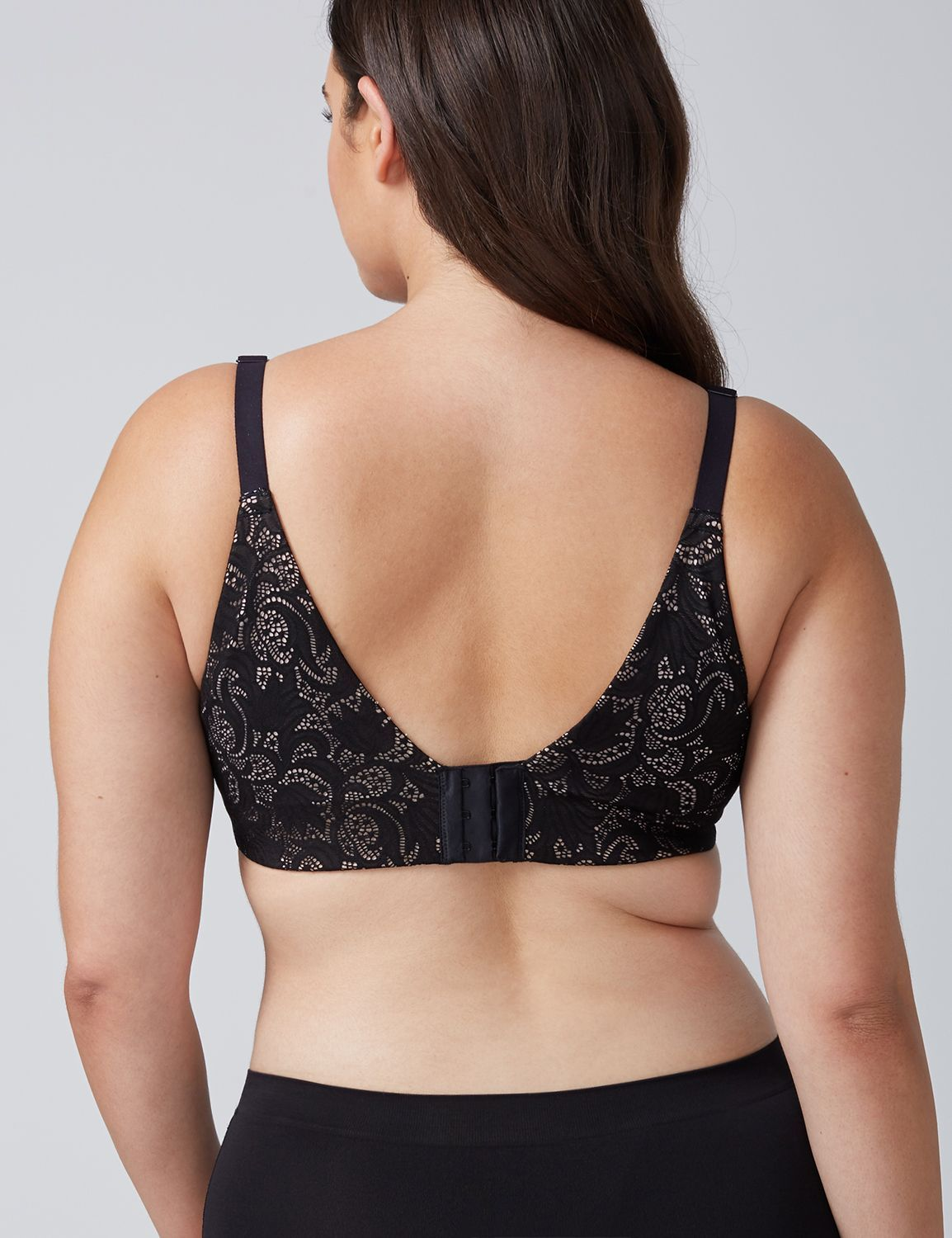 c8b1be69d Invisible Back Smoother Lightly Lined Full Coverage Bra with All-Over Lace