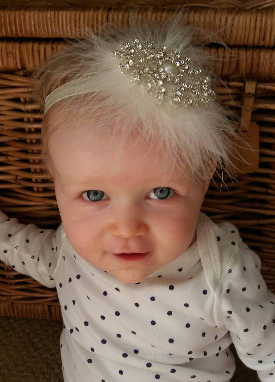 Hair accessories headbands uk - Rhinestone Gatsby Baby Headband Wedding Flower Girl Bridesmaid Christening Baptism Hair Accessories Ukrhinestone