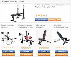 hantelbank trainingsbank vergleichstabelle der. Black Bedroom Furniture Sets. Home Design Ideas
