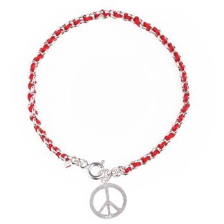 8044ae00c7002 Peace Sign Kabbalah Red String Bracelet. Have a peace of Mind with ...