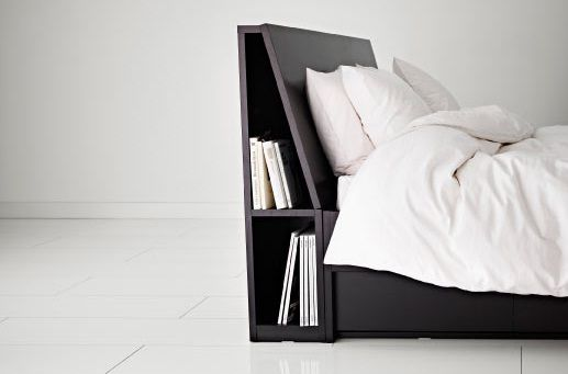 Storage Behind Headboard Could Easily Be Integrated Into The Bed