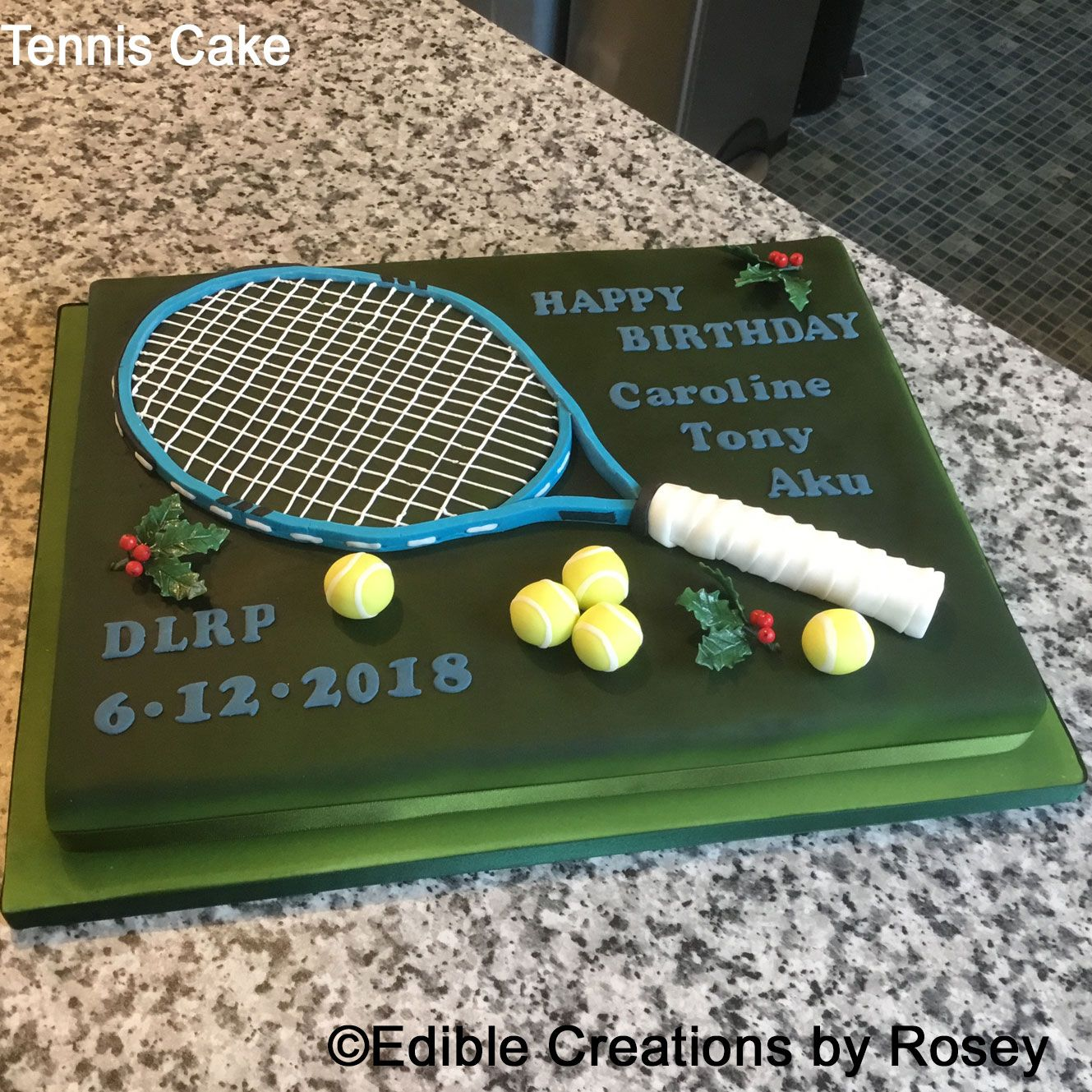Tennis Themed Birthday Cake By Edible Creations By Rosey With
