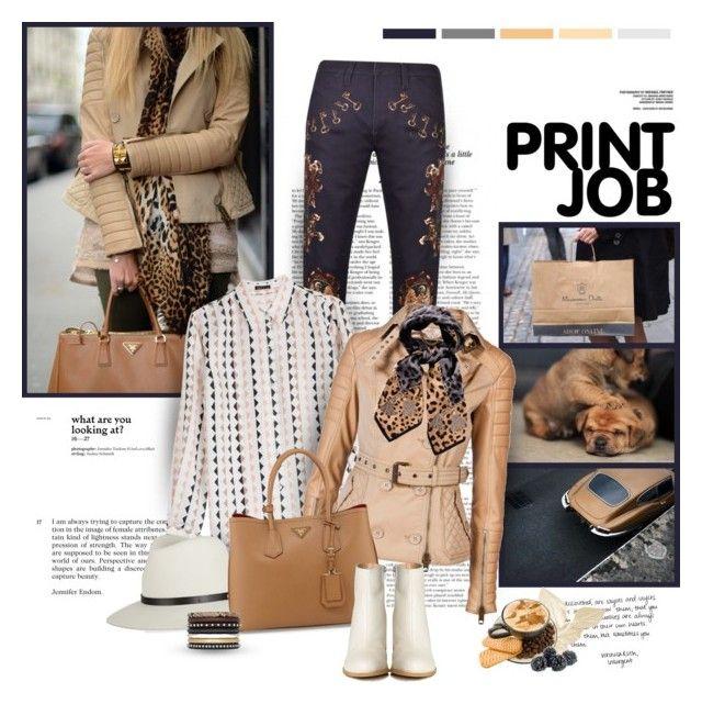 """Print job"" by helleka ❤ liked on Polyvore featuring Zara, Dolce&Gabbana, Theory, Daydreamer, Burberry, rag & bone, Prada, MM6 Maison Margiela and Yves Saint Laurent"