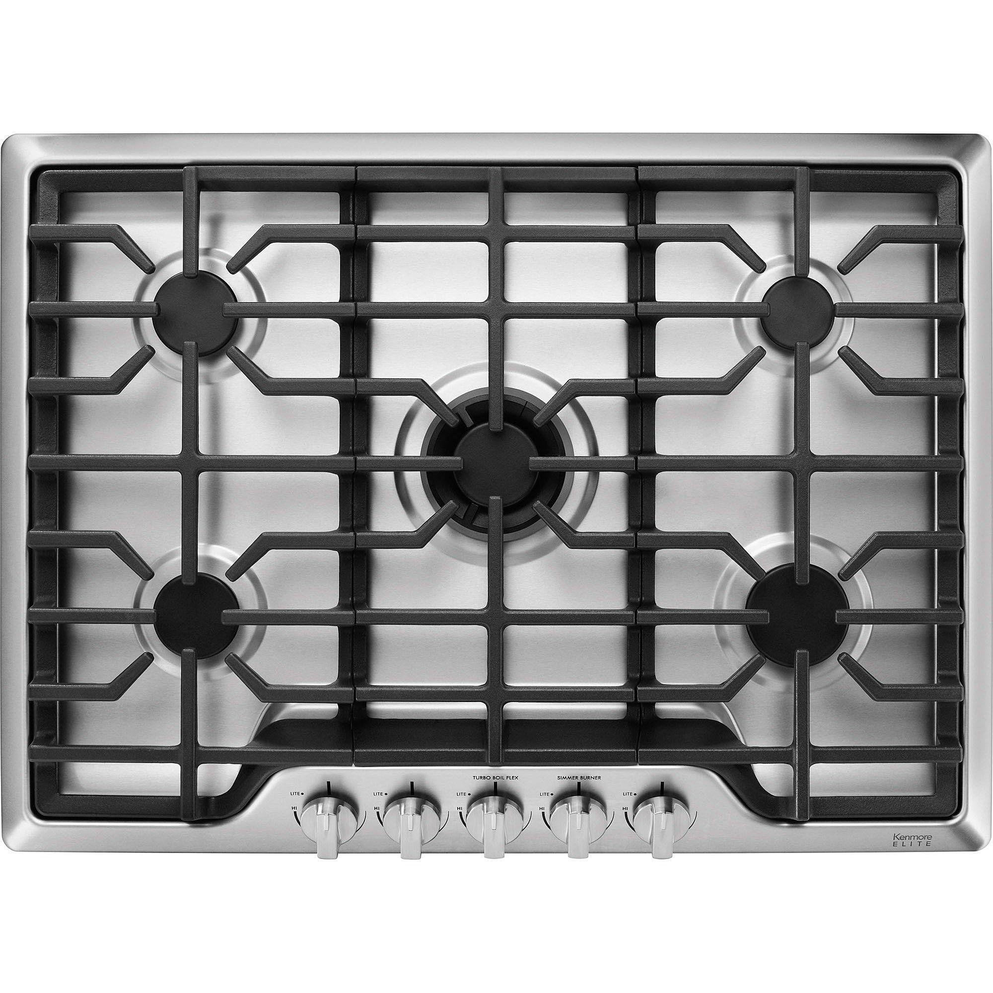 Kitchenaid 30 inch gas cooktop stainless steel kitchen