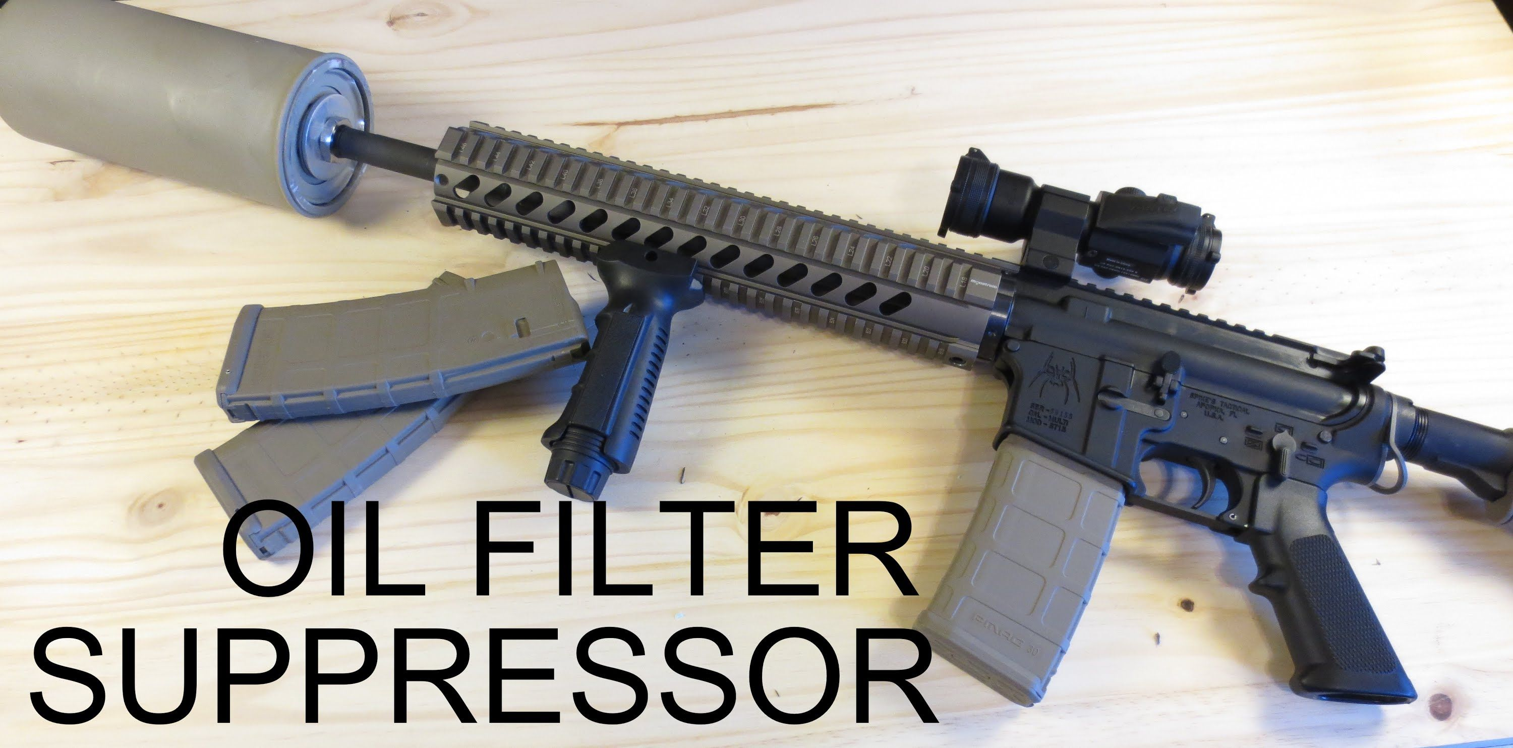 medium resolution of how to build an amazing oil filter suppressor for under 30
