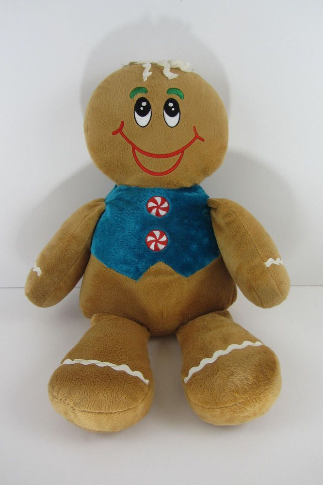 Dan Dee Gingerbread Man Plush 19 Stuffed Christmas Dandee Elf