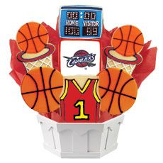 reputable site d314e fc540 NBA Cleveland Cavaliers Cookie Bouquet. A perfect gift for ...