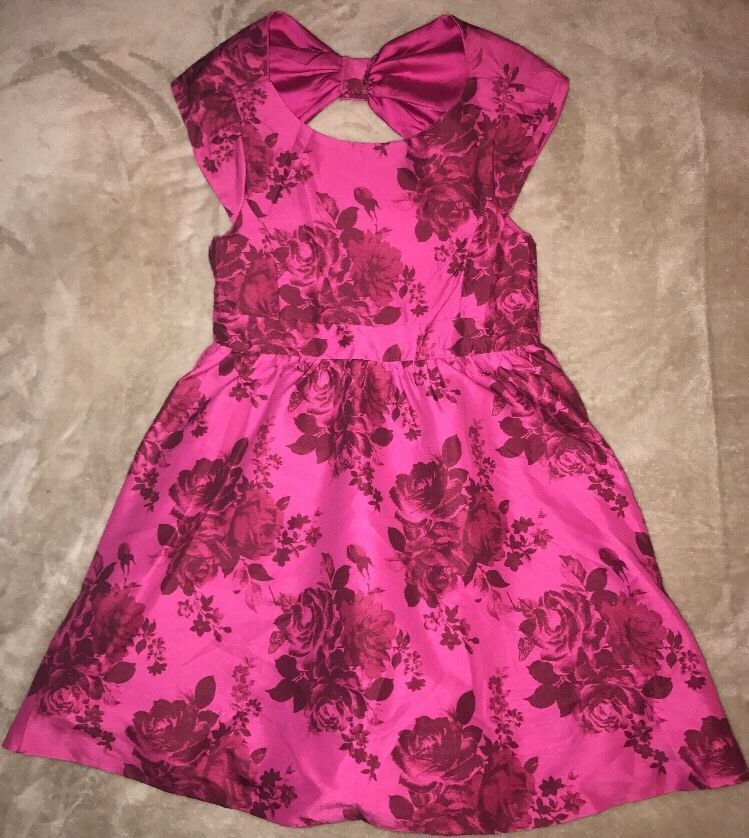 Girls Baker By Ted Baker Size 6 Lined Floral Holiday Party Dress ...
