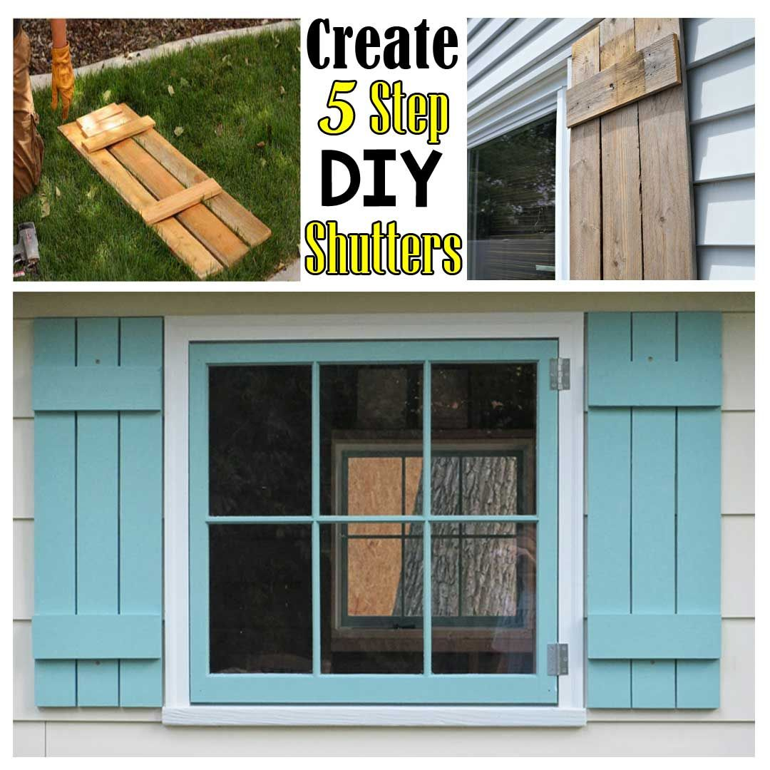 Create DIY Shutters in 5 Simple Steps - Frugal Living for ...