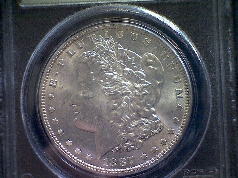 1887 Morgan Silver Dollar Pcgs Ms64 Old Pcgs Slab Great Coin Get It Now Ebay