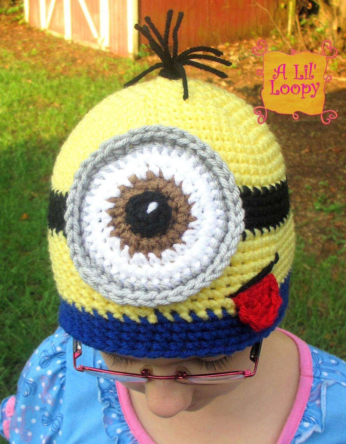 Crochet Minion Hat by ALilLoopy on Etsy, $25.00 | For Kroghi | Pinterest