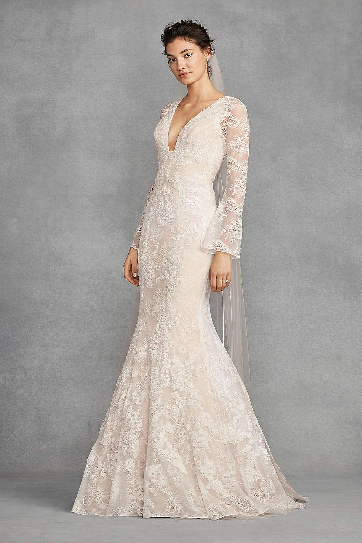 View long sleeves long wedding dress at davidus bridal wedding