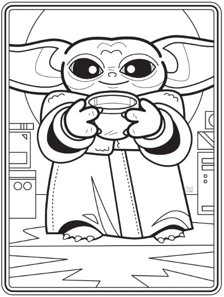 New Baby Yoda Coloring Book Is Free To Download Right Now Free Coloring Pages Free Coloring Sheets Coloring Pages For Kids