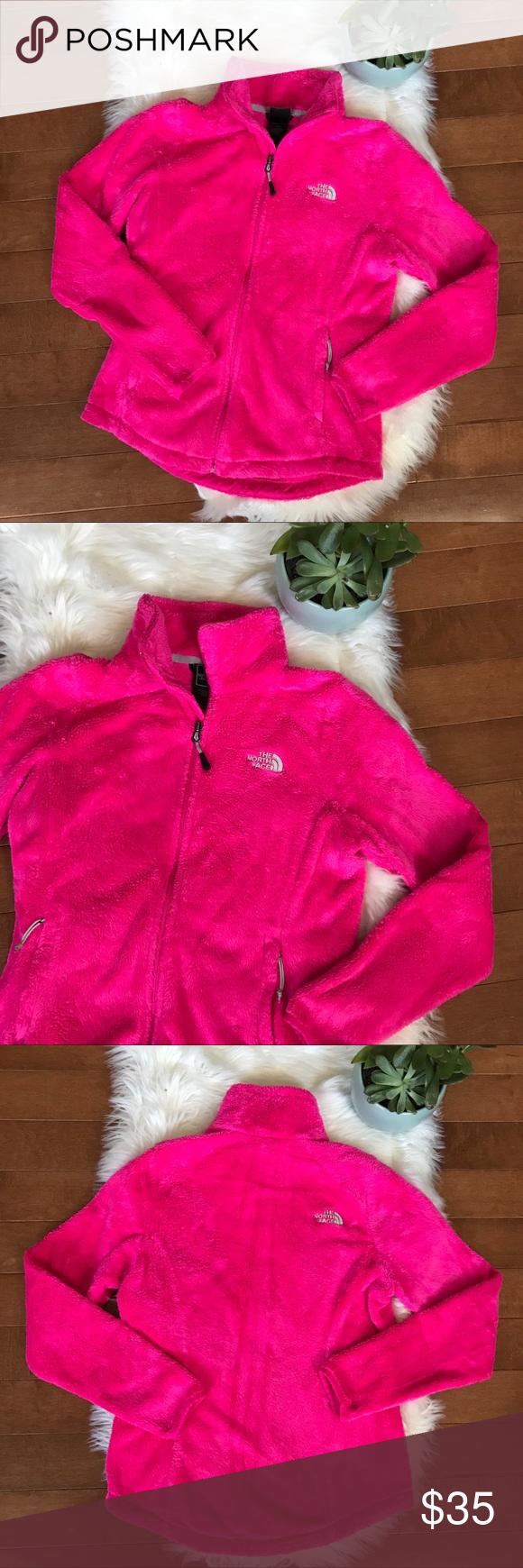 The Northface Pink Fuzzy Full Zip Jacket Sz S Zip Jackets Clothes Design Jackets [ 1740 x 580 Pixel ]
