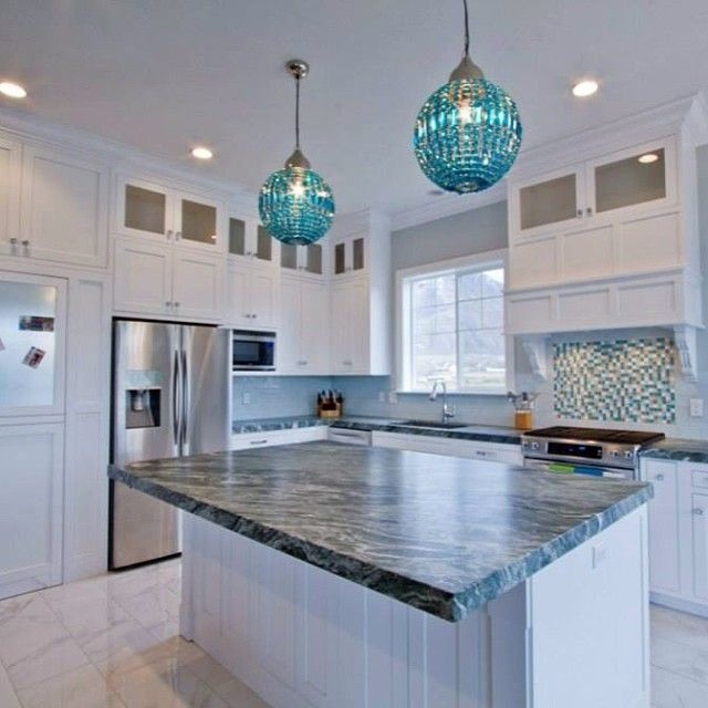 18 Decoration Ideas For Kitchen Of Your Dream: Tiles To Match Blue Pearl Granite