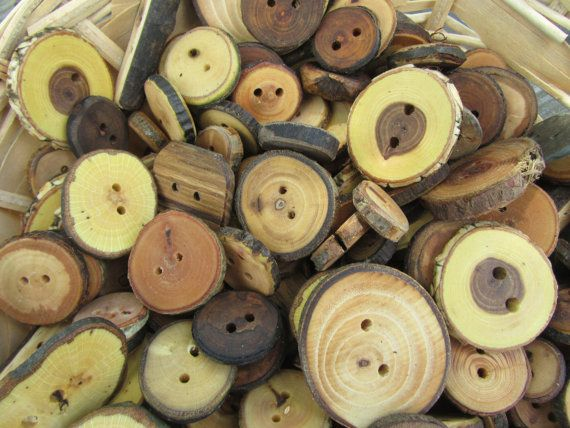 Wooden Button Grab Bag. 25 Buttons. by PymatuningCrafts on Etsy, $12.50