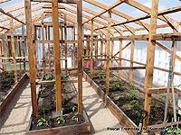 How To Anchor A Greenhouse To Ground Anchoring Greenhouse Build A Greenhouse Greenhouse Construction Greenhouse Interiors