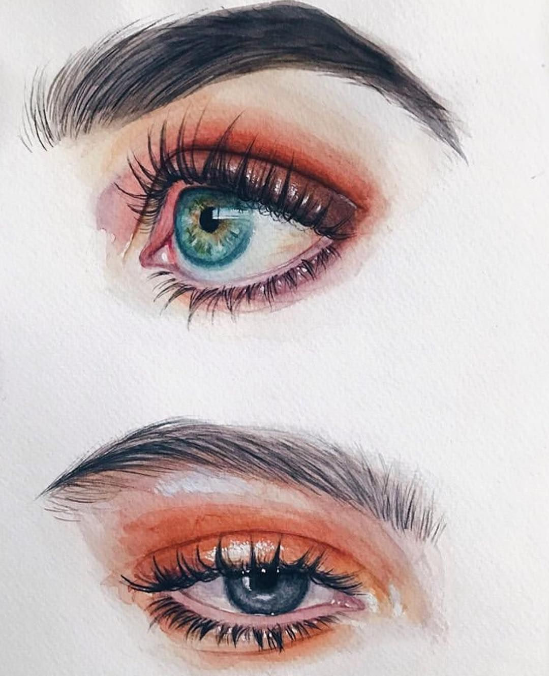 "Photo of Eye Drawing on Instagram: ""By @amykour  Follow @eyedrawing for more 👁 #eyedrawing . . . . . . . . . . . #eye #eyes #eyeart #eyesketch #art #drawing #watercolor #color…"""