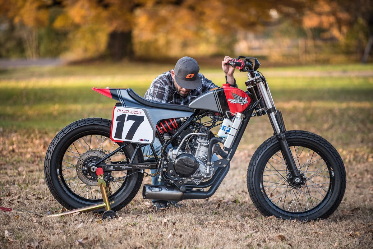 J&M Honda CRF450 … Flat track motorcycle, Tracker