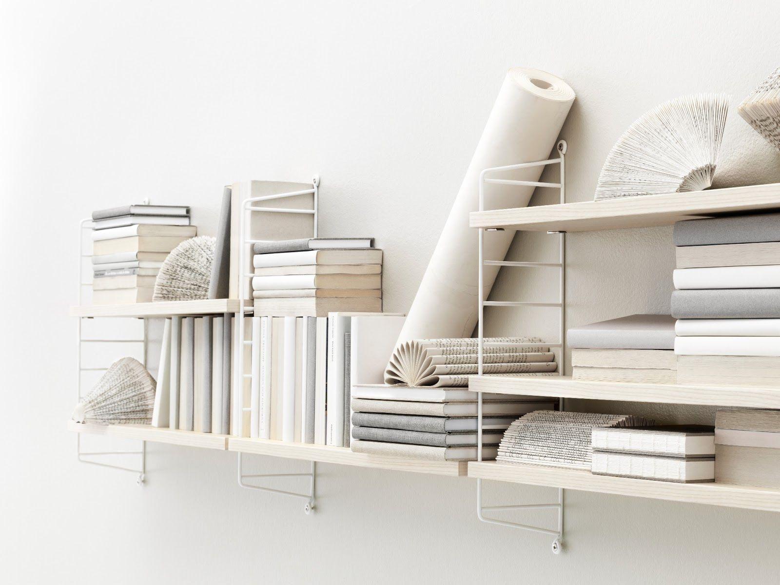 Fesselnd Regal String Pocket / Holz   L 60 X H 50 Cm, Esche / Seitenelemente Weiß  Von String Furniture Finden Sie Bei Made In Design, Ihrem Online Shop Für  ...