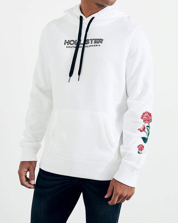8aabbaf83441  49.95 - HOLLISTER Rose Embroidered Graphic Hoodie - EVERYSTORE ...