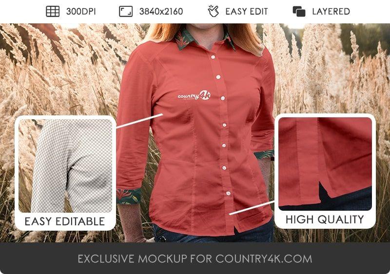 Download Free Women Blouse T Shirt Psd Mockup In 4k Blouses For Women Shirts Shirt Mockup