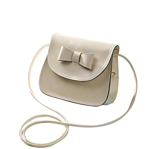 Womens Purse  Alizzee Fashion Womens Bowknot Leather Handbag Single Shoulder Messenger Phone Bag Beige * Want to know more, click on the image.