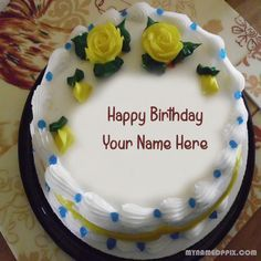 Write Name On Flowers Birthday Cake Pictures Online Specially Name