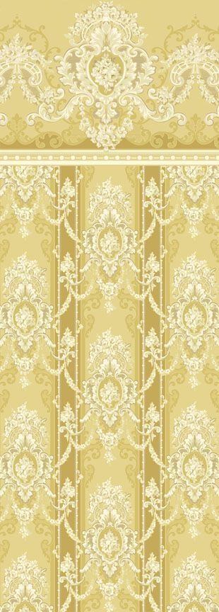 Gold Cream Fancy Wallpaper With