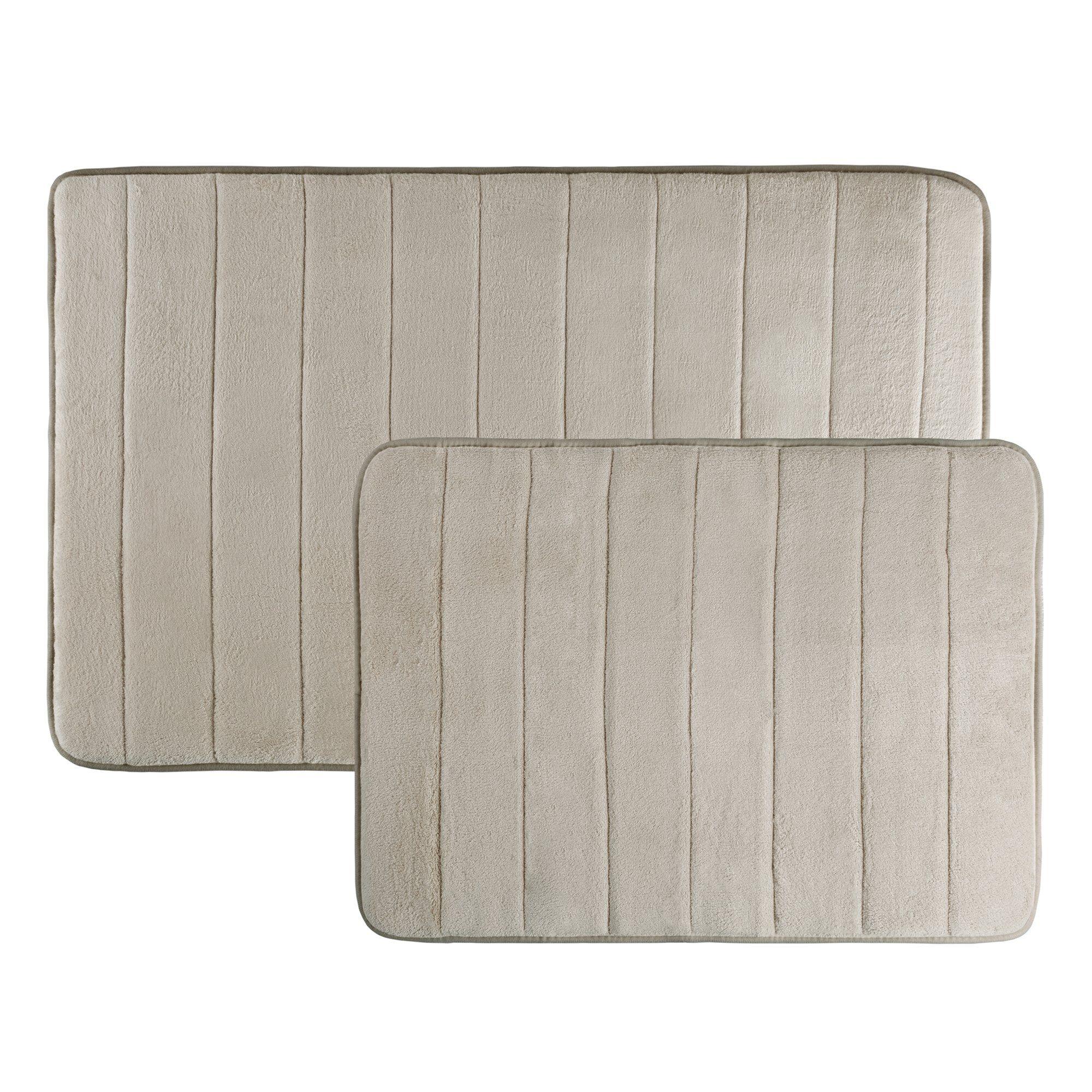 Memory Foam Bath Mats Non Slip And Fast Dry 2 Piece Bathroom Mat