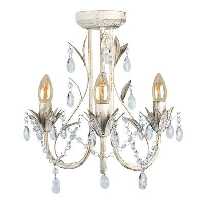 Youll love the odelia shabby elegance 3 light crystal chandelier at wayfair co